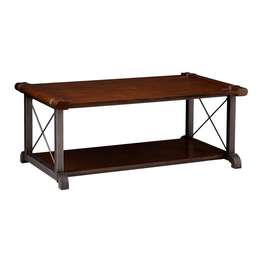Boston Loft Furnishings Darlington Cast Iron/Rubberwood Veneer Rectangular Coffee Table
