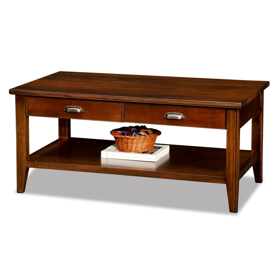 Leick Laurent Chocolate Cherry Rectangular Coffee Table