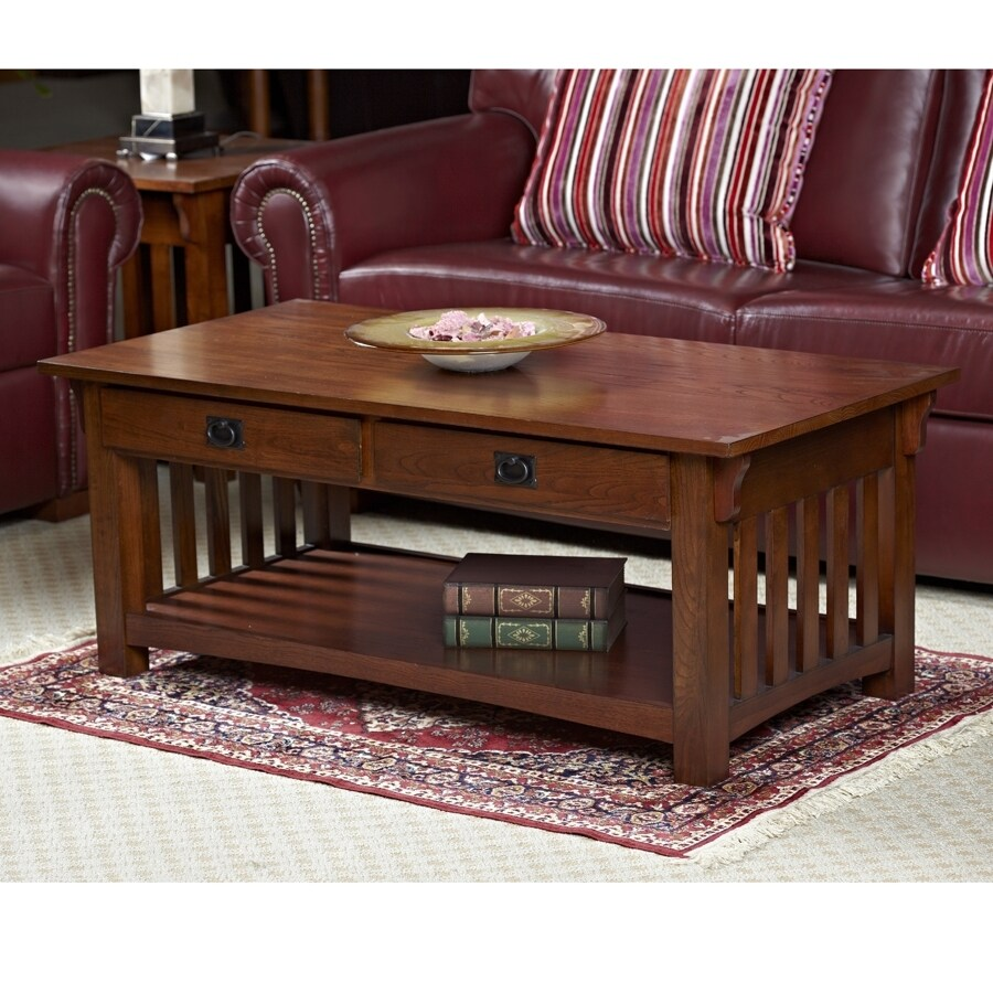 Leick Mission Impeccable Medium Oak Rectangular Coffee Table