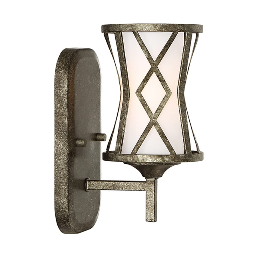 Millennium Lighting Lakewood 1-Light 10-in Antique silver Geometric Vanity Light