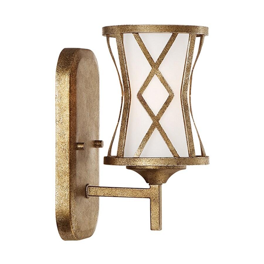 Millennium Lighting Lakewood 1-Light 10-in Vintage gold Geometric Vanity Light