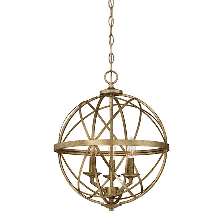 Millennium Lighting Lakewood 16-in Vintage Gold Industrial Single Orb Pendant