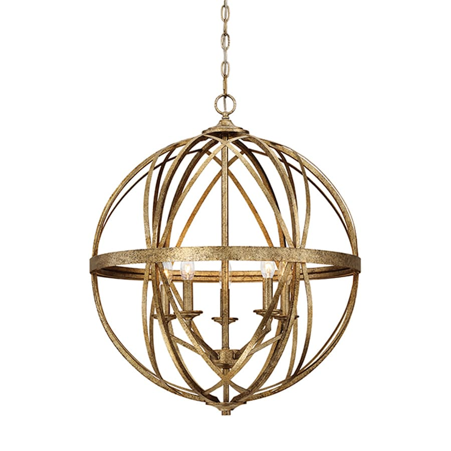 Millennium Lighting Lakewood 24-in Vintage Gold Industrial Single Orb Pendant