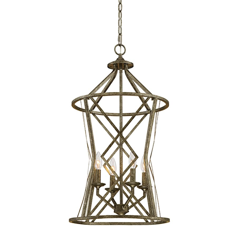 Millennium Lighting Lakewood 16-in Antique Silver Vintage Single Cage Pendant