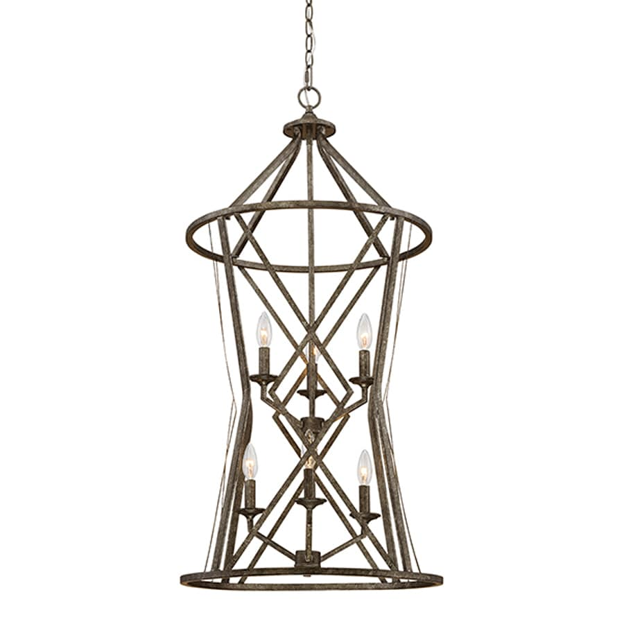 Millennium Lighting Lakewood 20-in Antique Silver Vintage Single Cage Pendant