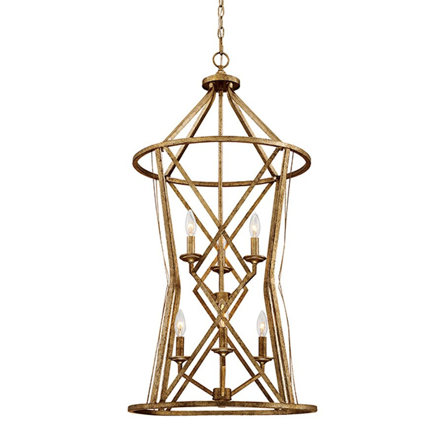 Millennium Lighting Lakewood 20-in Vintage Gold Vintage Single Cage Pendant