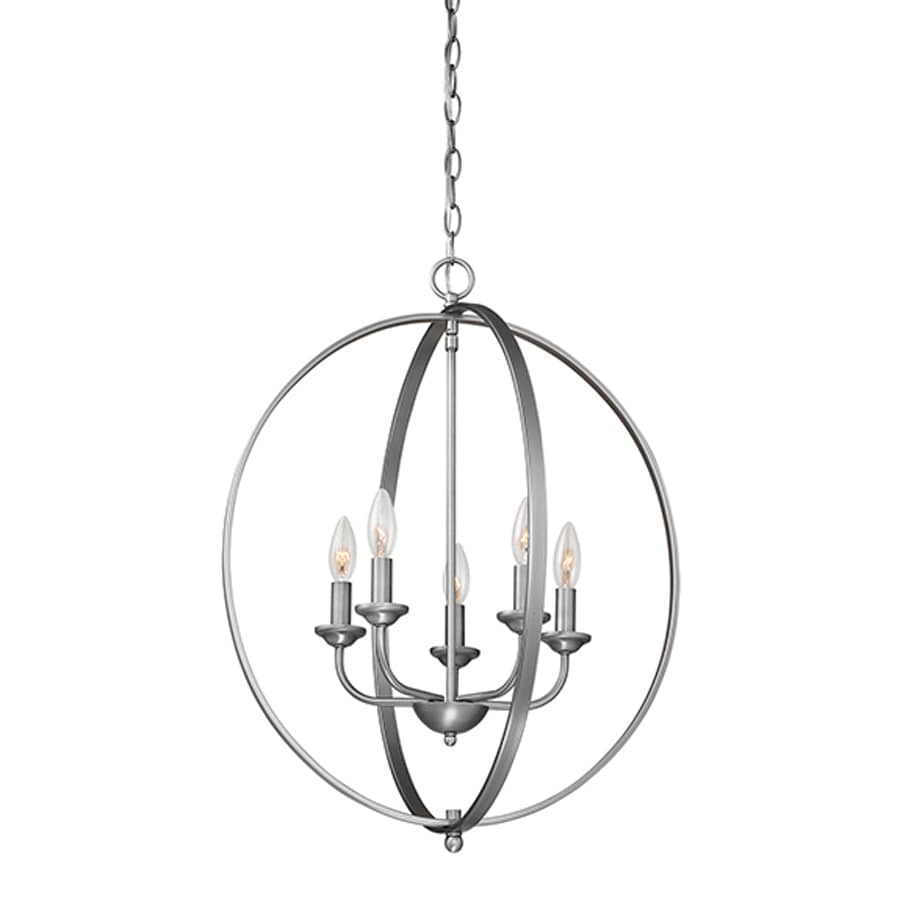 Millennium Lighting 20-in Brushed Pewter Vintage Single Cage Pendant
