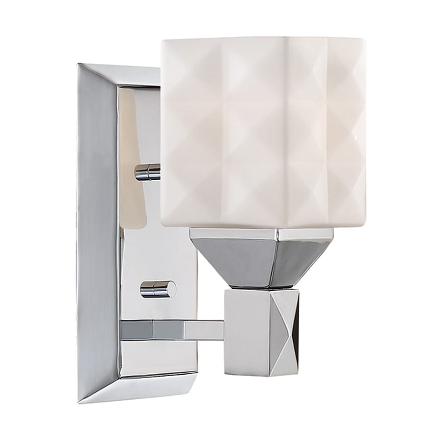 Millennium Lighting 1-Light 8-in Chrome Geometric Vanity Light