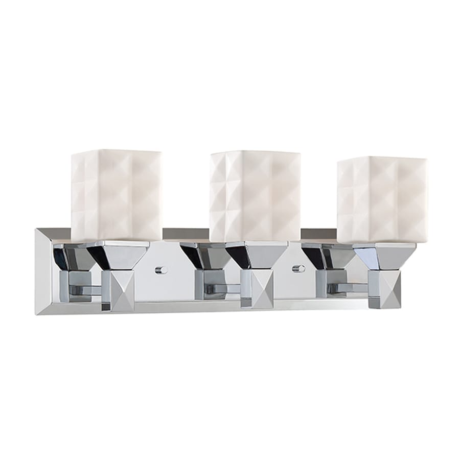 Millennium Lighting 3-Light 7-in Chrome Geometric Vanity Light