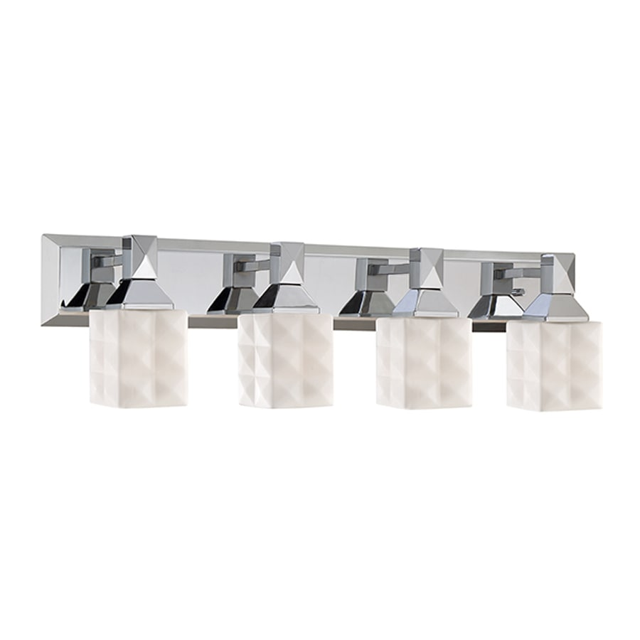 Millennium Lighting 4-Light 7.5-in Chrome Geometric Vanity Light