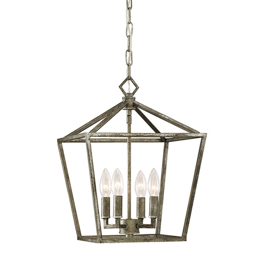 Millennium Lighting 12-in Antique Silver Vintage Single Cage Pendant