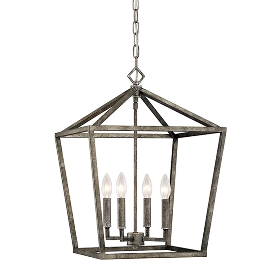 vintage lighting pendants. Millennium Lighting 16-in Antique Silver Vintage Single Cage Pendant Pendants N