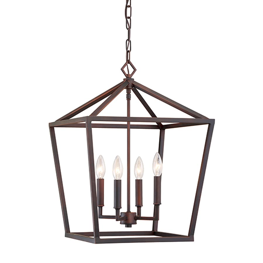 Millennium Lighting 16-in Rubbed Bronze Vintage Single Cage Pendant