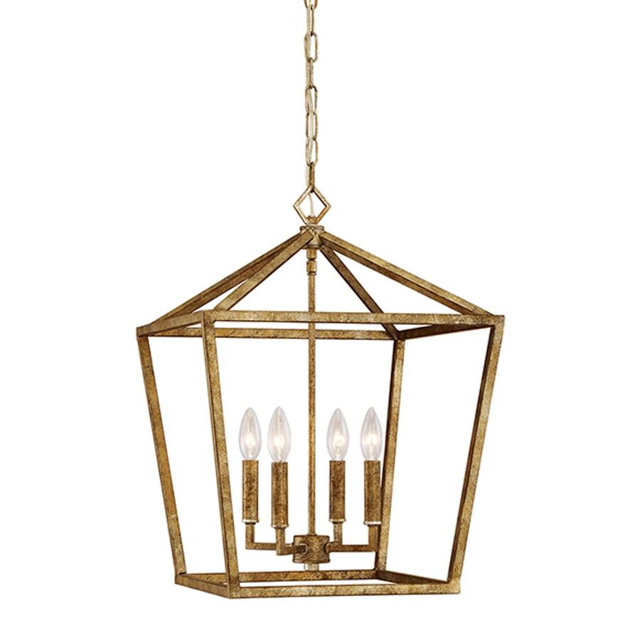 Millennium Lighting 16-in Vintage Gold Vintage Single Cage Pendant