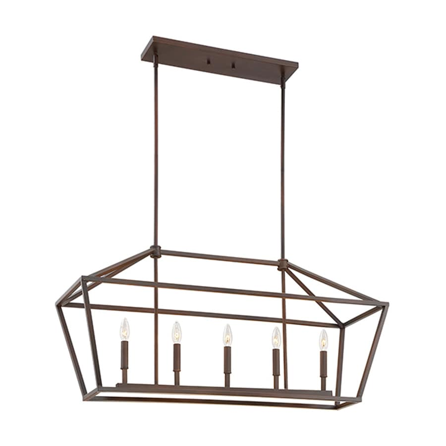 shop kitchen island lighting at lowes com millennium lighting 40 in w 5 light kitchen island light