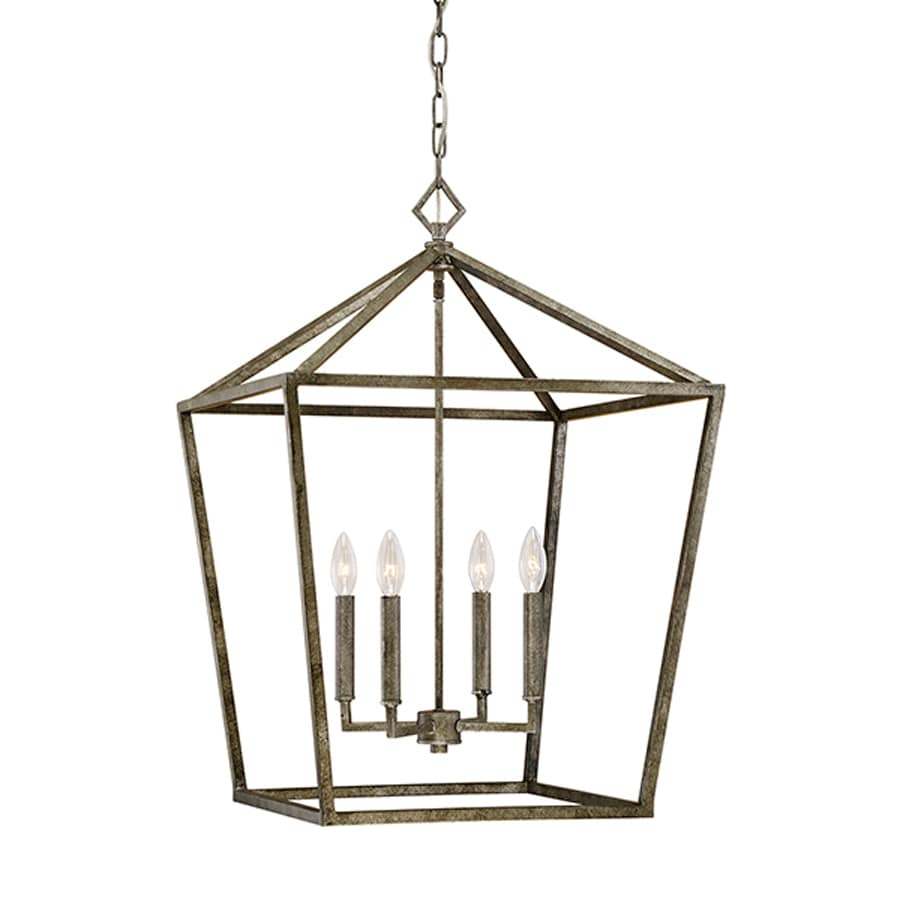 Millennium Lighting 20-in Antique Silver Vintage Single Cage Pendant