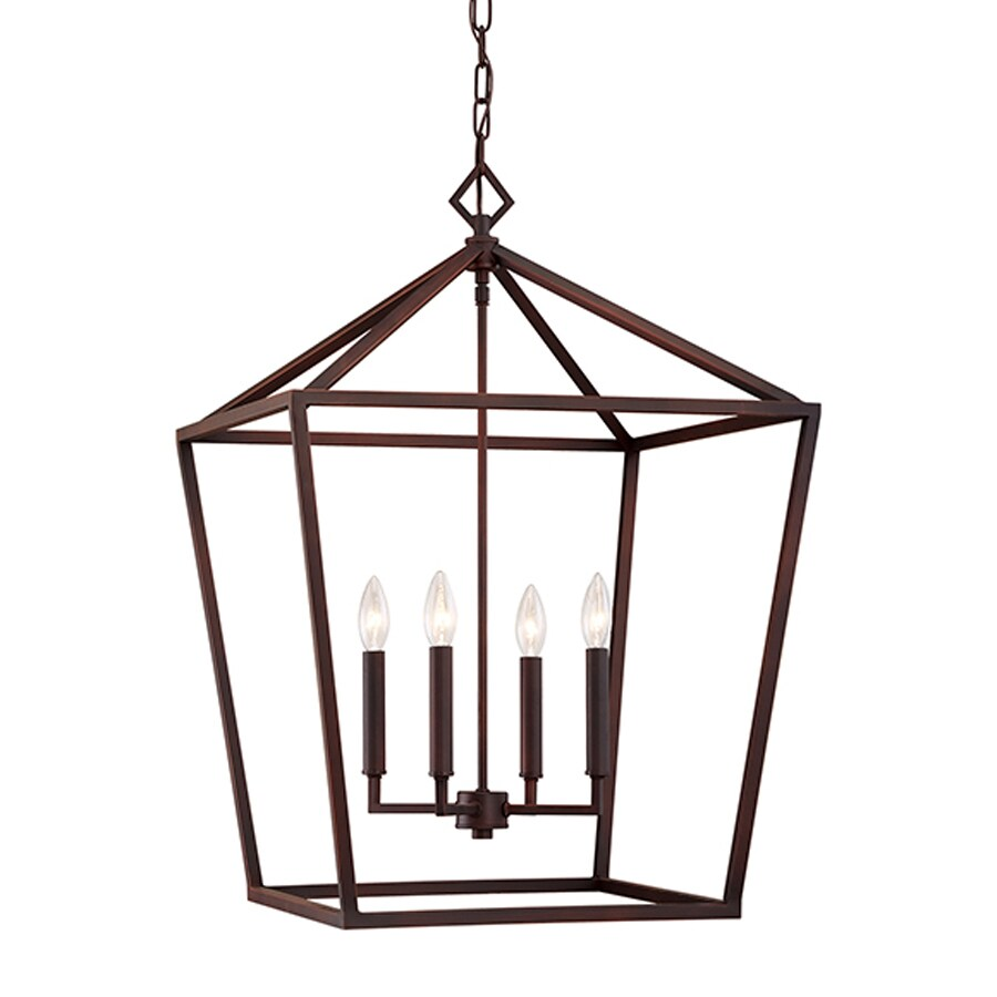 Millennium Lighting 20-in Rubbed Bronze Vintage Single Cage Pendant