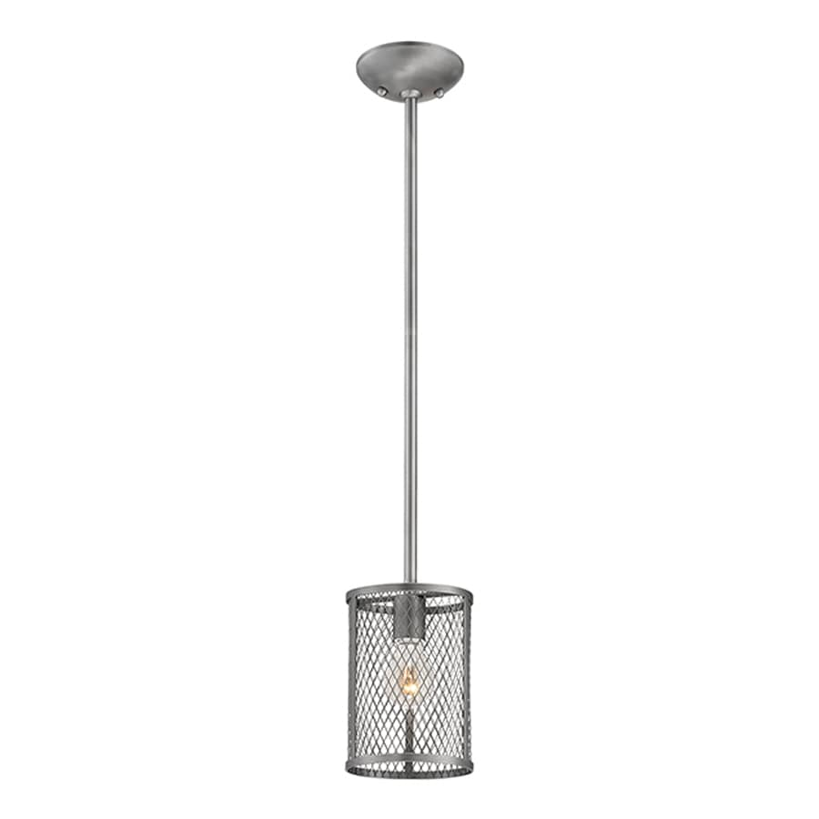 Millennium Lighting Akron 6-in Brushed Pewter Industrial Mini Cylinder Pendant