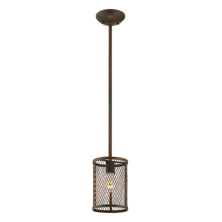 Millennium Lighting Akron 6-in Rubbed Bronze Industrial Mini Cylinder Pendant