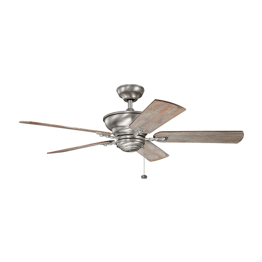 Kichler Graystone 52-in Burnished antique pewter Indoor Downrod Mount Ceiling Fan