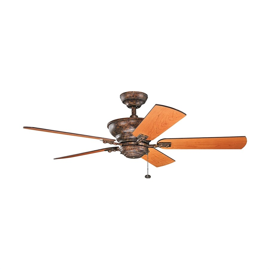 Kichler Graystone 52-in Berkshire Bronze Indoor Downrod Mount Ceiling Fan