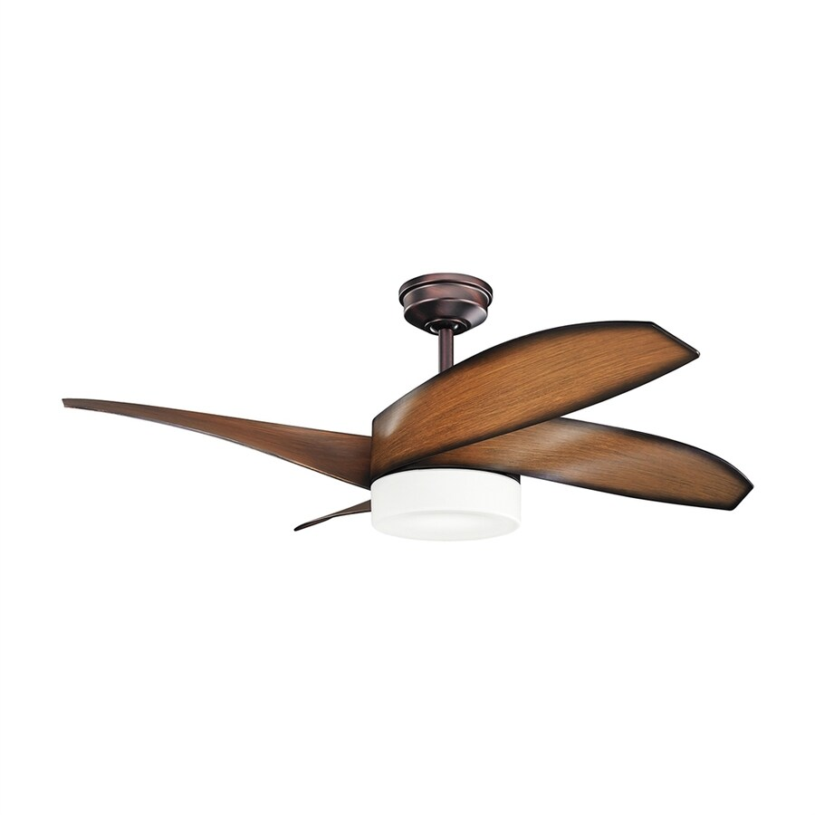 ceiling fan with led light kit and remote 4 blade at. Black Bedroom Furniture Sets. Home Design Ideas