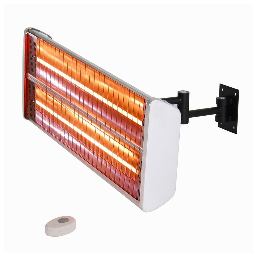 EnerG+ 5100 BTU 110 Volt Silver Aluminum Electric Patio Heater