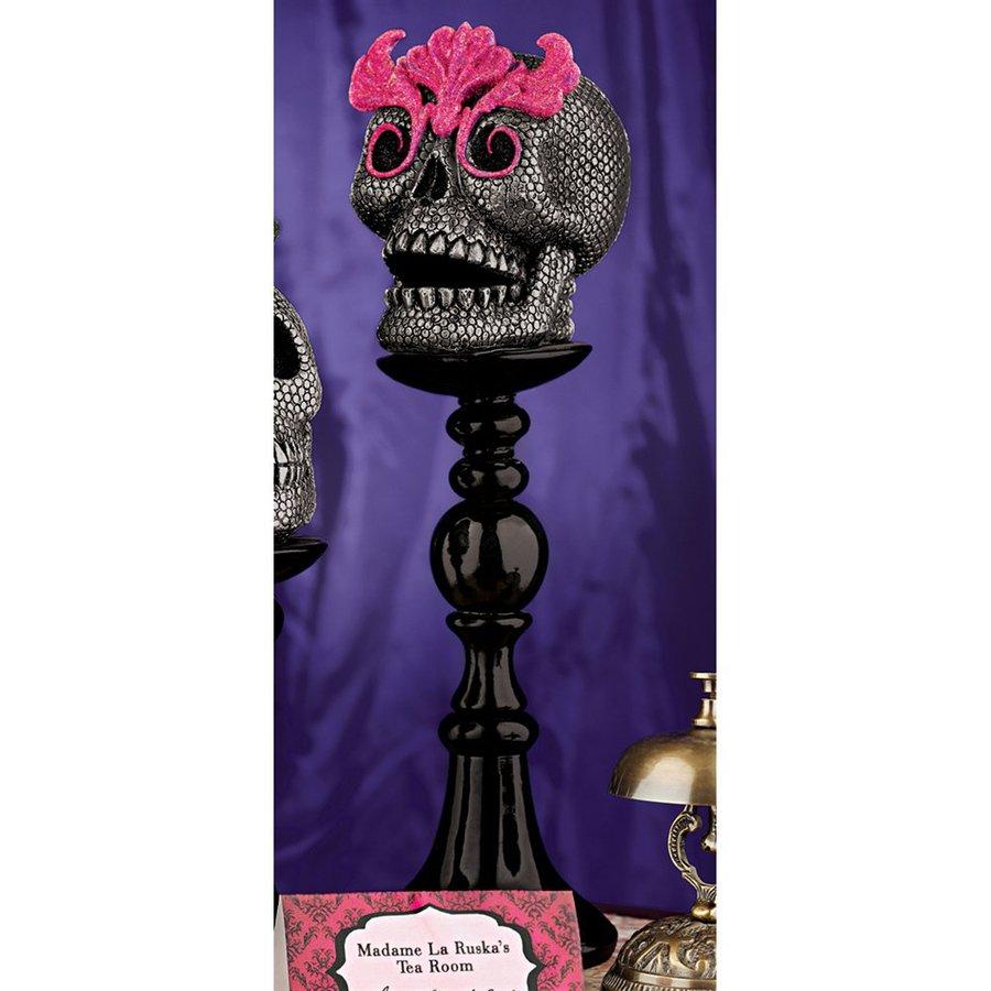 Design Toscano Skull-a-bration: Miss Absinthe Skull Figurine