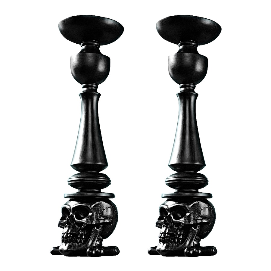 Design Toscano Shadow Of Darkness Freestanding Skull Candle Holder