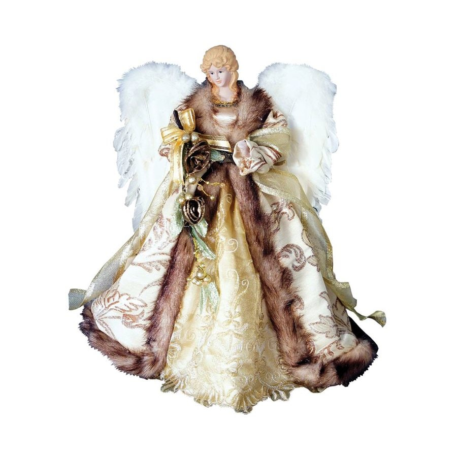 Christmas Tree Angel Tree Topper: Santa's Workshop 16-in Antique Gold Angel Christmas Tree