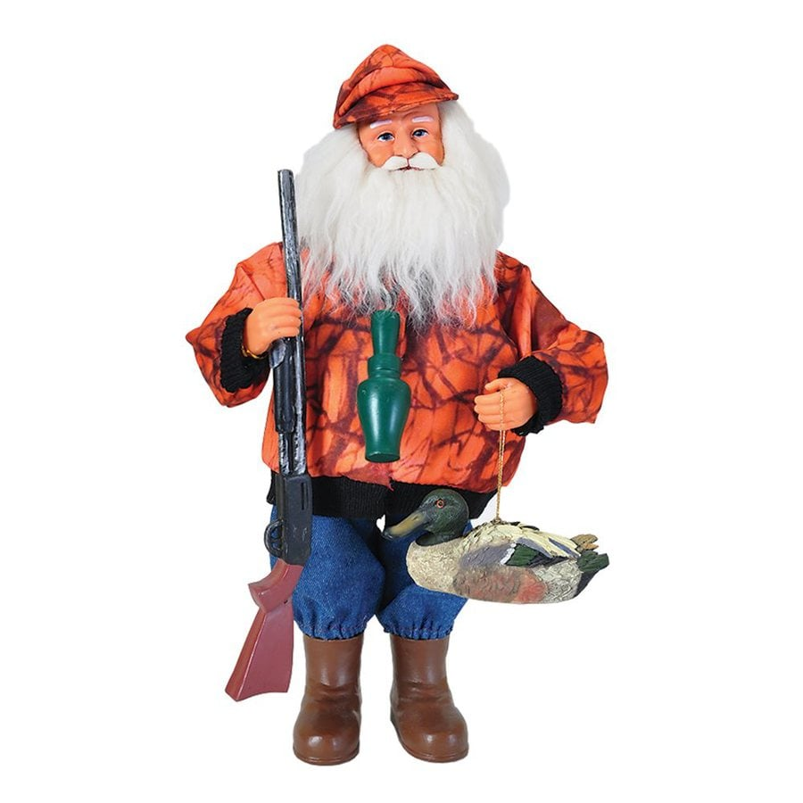 Santa's Workshop Duck Hunter Santa Santa Figurine