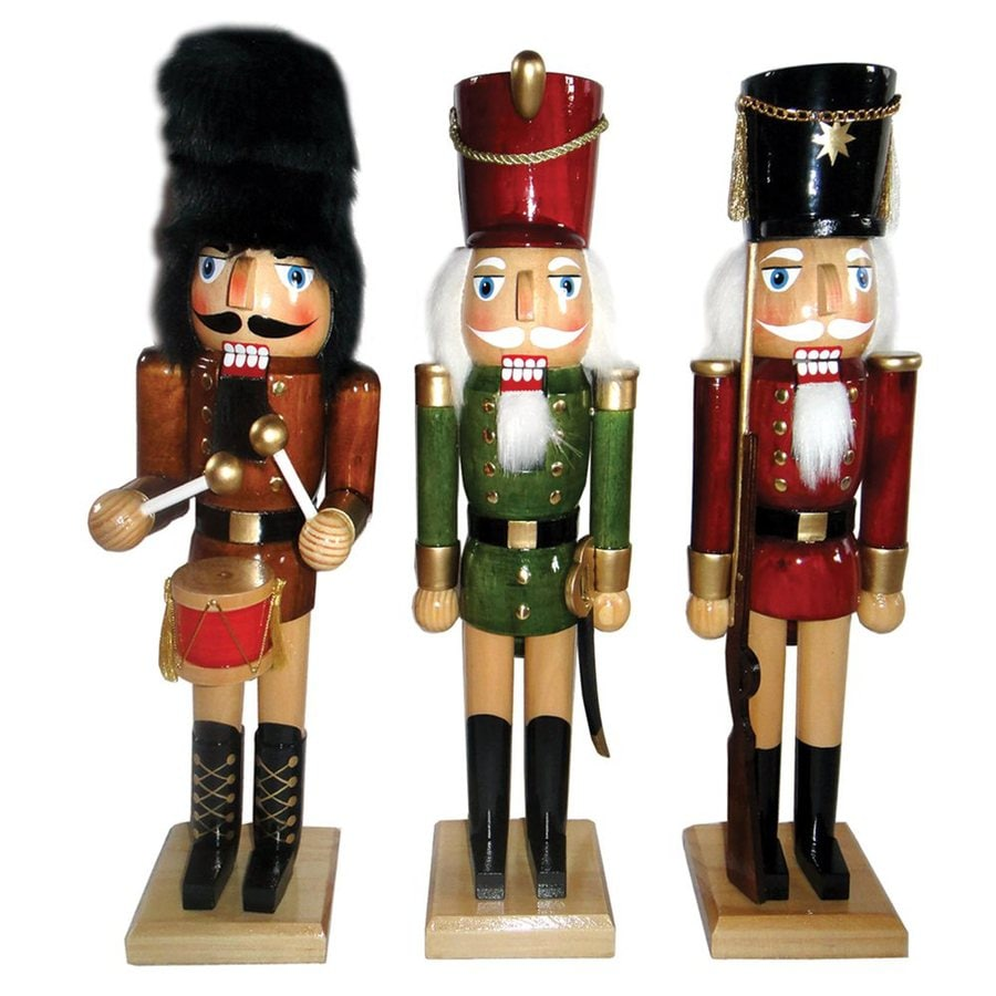 Santa's Workshop Natural Wood Nutcracker