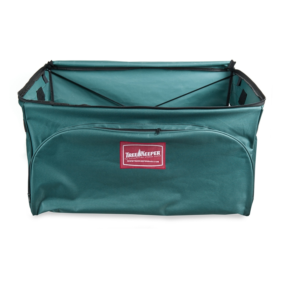 TreeKeeper 27-in x 14-in Green Polyester Ornament Storage Bag