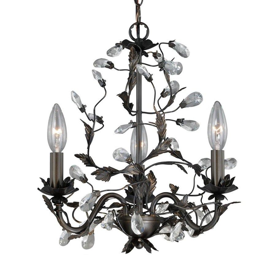 Cascadia Lighting Trellis 13.75-in 3-Light Architectural Bronze Vintage Candle Chandelier