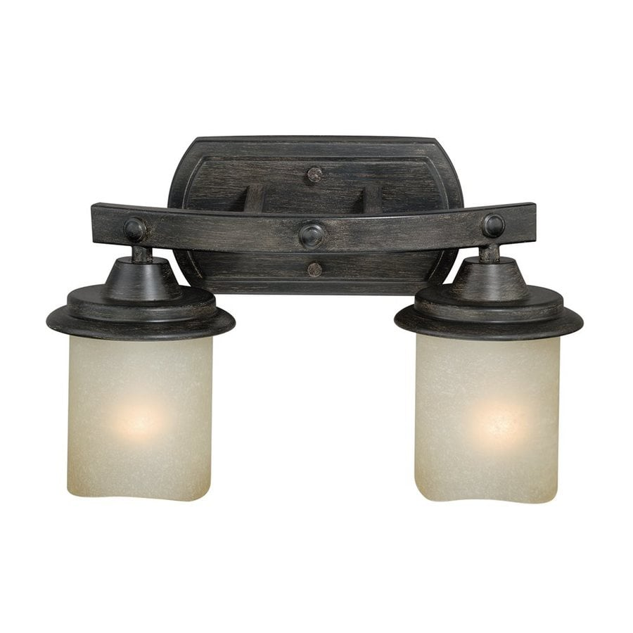 Shop Cascadia Lighting Halifax 2 Light 14 In Black Walnut Cylinder Vanity Light At