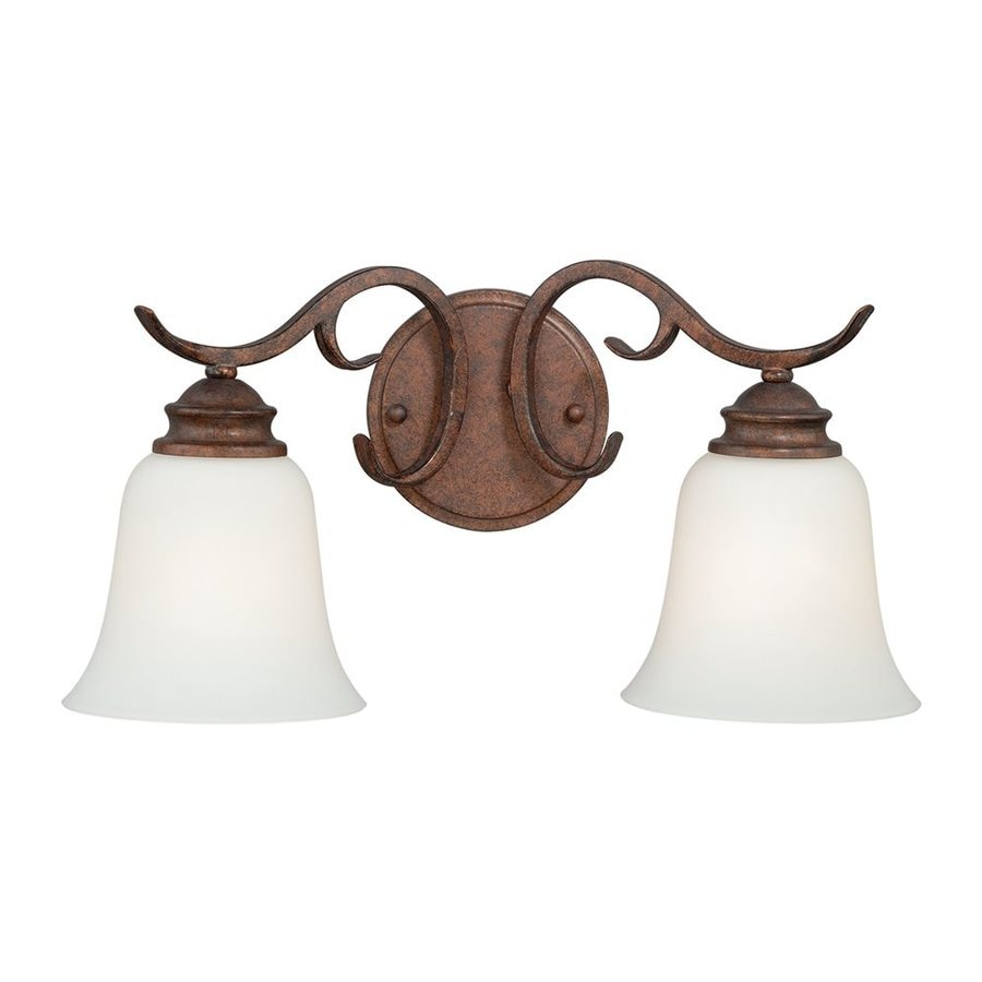 Cascadia Lighting Hartford 2-Light 8.5-in Weathered Patina Bell Vanity Light