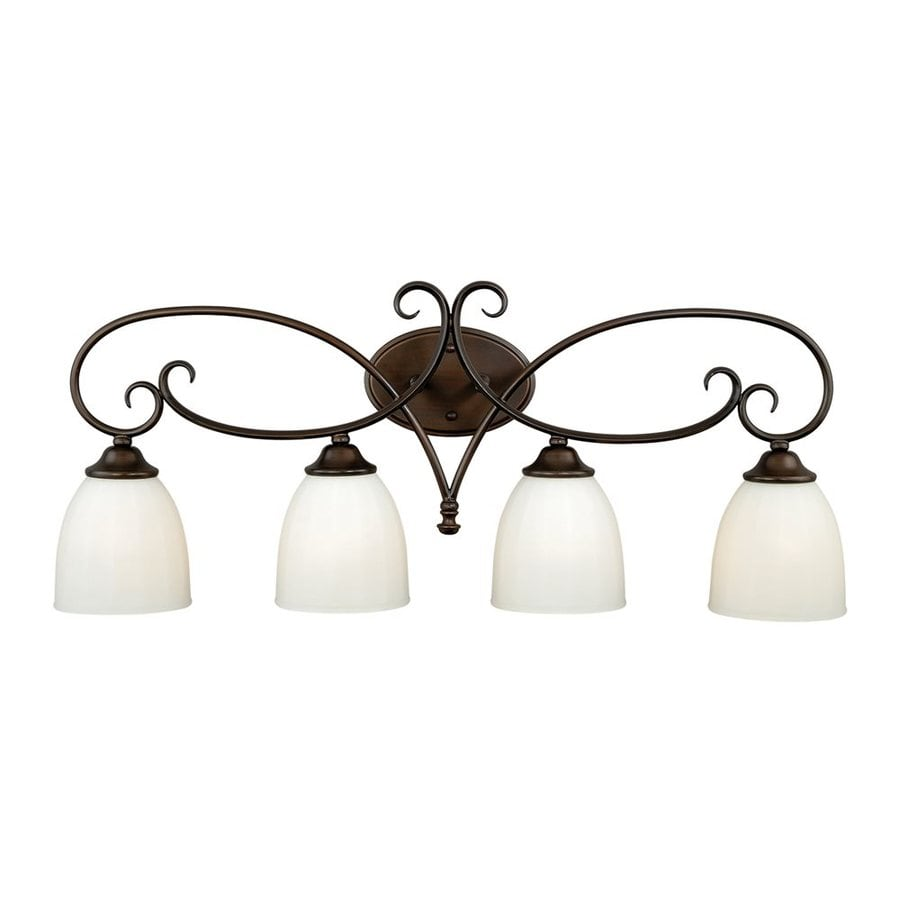 Cascadia Lighting Claret 4-Light 12.625-in Venetian Bronze Bell Vanity Light