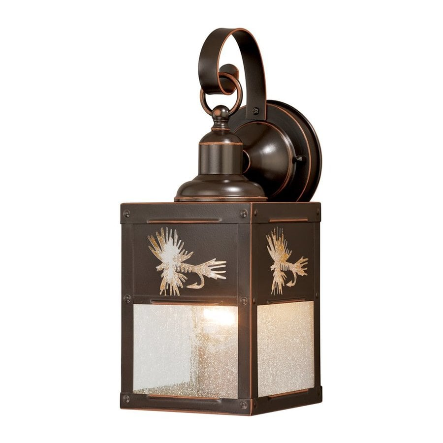 Cascadia Lighting Mayfly 13-in H Burnished Bronze Outdoor Wall Light