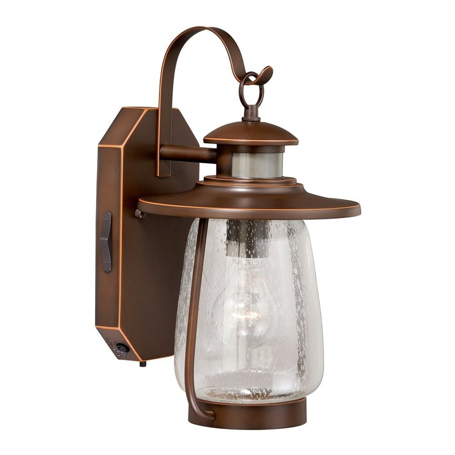 Cascadia Lighting Galway 13.75-in H Burnished Bronze Motion Activated Outdoor Wall Light
