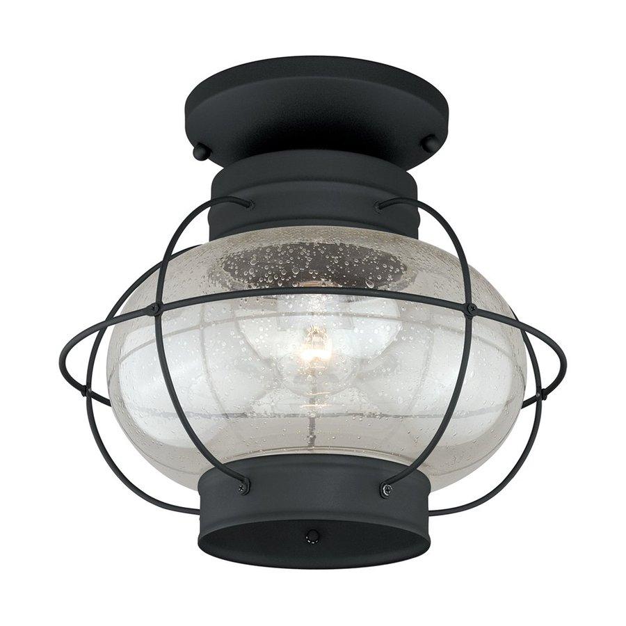 Cascadia Lighting Chatham 13-in W Textured Black Outdoor Flush-Mount Light