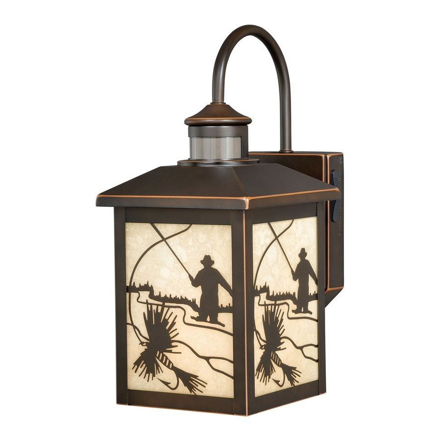 Cascadia Lighting Mayfly 14.75-in H Burnished Bronze Motion Activated Outdoor Wall Light