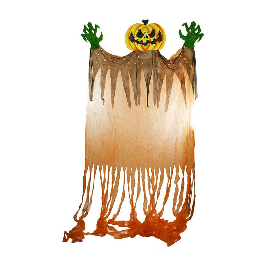 Christmas Central Scary Jack-O-Lantern Rayon Freestanding Greeter