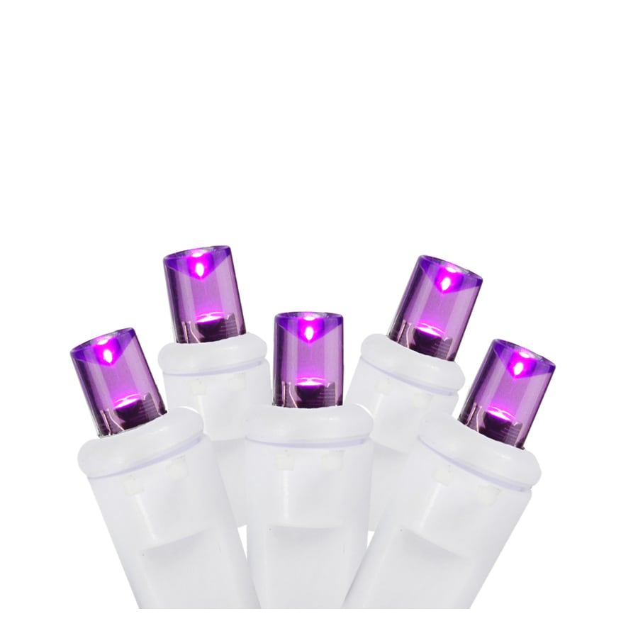 Christmas Central 70-Count Purple Mini LED Plug-in Christmas Icicle Lights