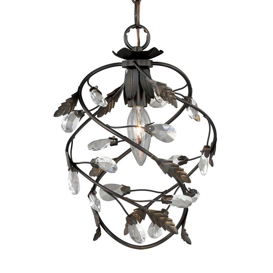 Cascadia Lighting Trellis 7-in Architectural Bronze Vintage Mini Cage Pendant