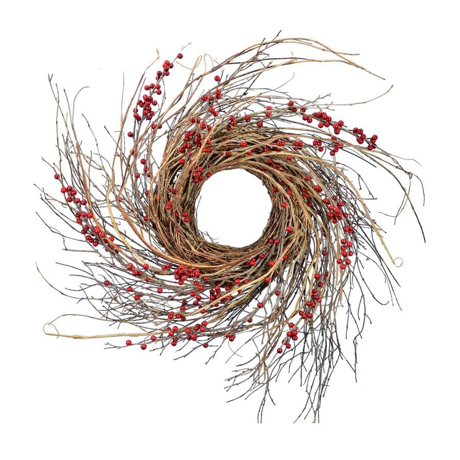 Fantastic Craft 26-in Indoor Berry Artificial Thanksgiving Wreath