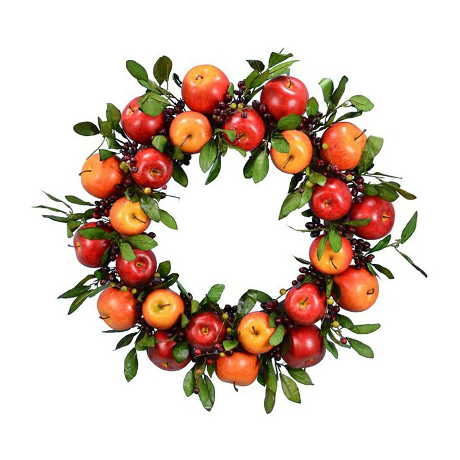 Fantastic Craft 23-in Unlit  Indoor Apple Artificial Thanksgiving Wreath