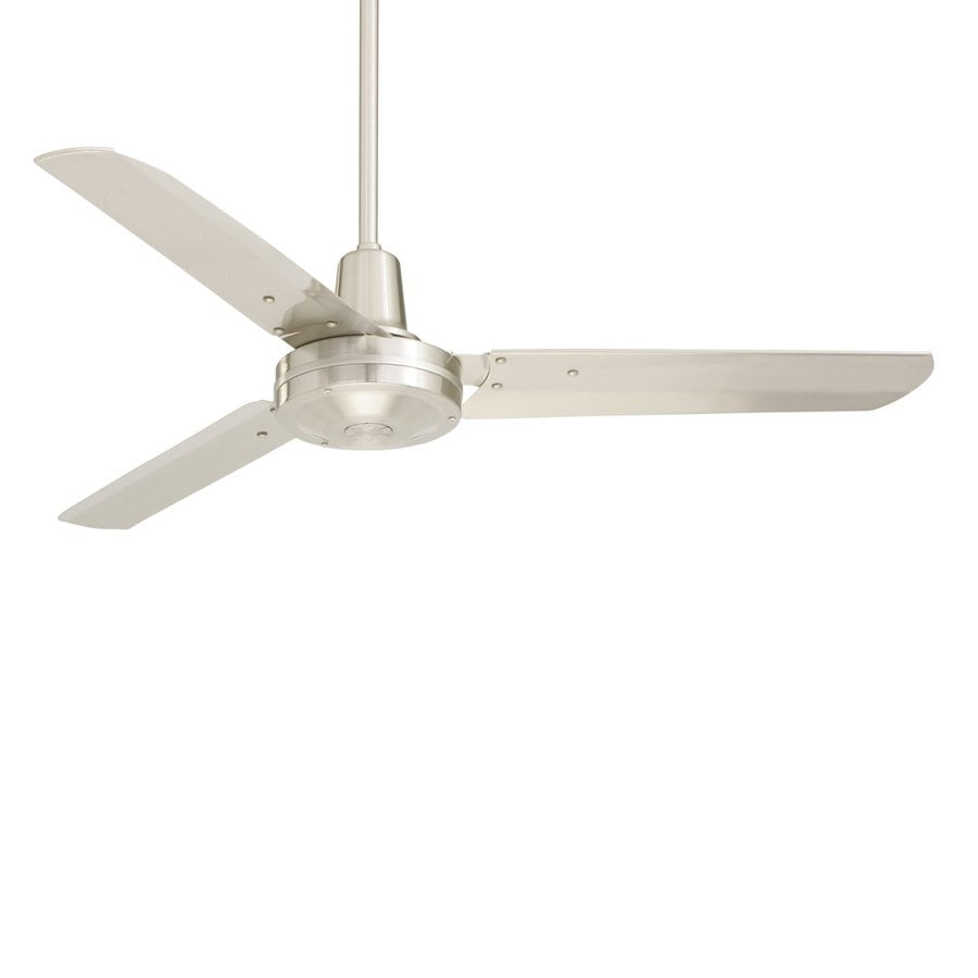 Cascadia Lighting 48 In Brushed Steel Indoor Commercial Downrod Mount Ceiling Fan 3