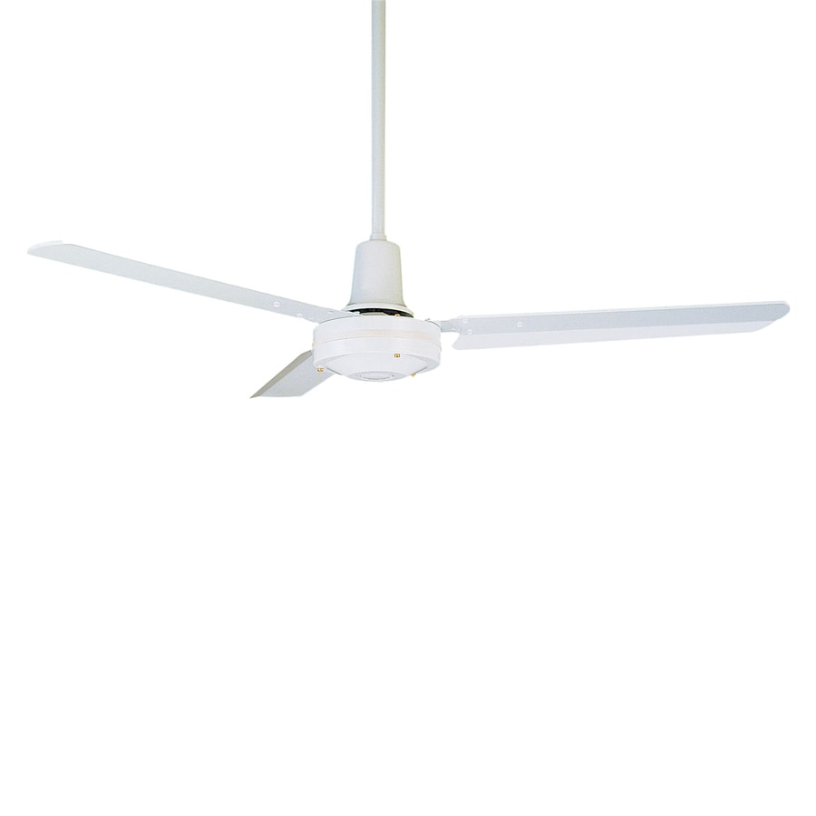 Cascadia Lighting 48-in Appliance white Indoor Commercial Downrod Mount Ceiling Fan (3-Blade)