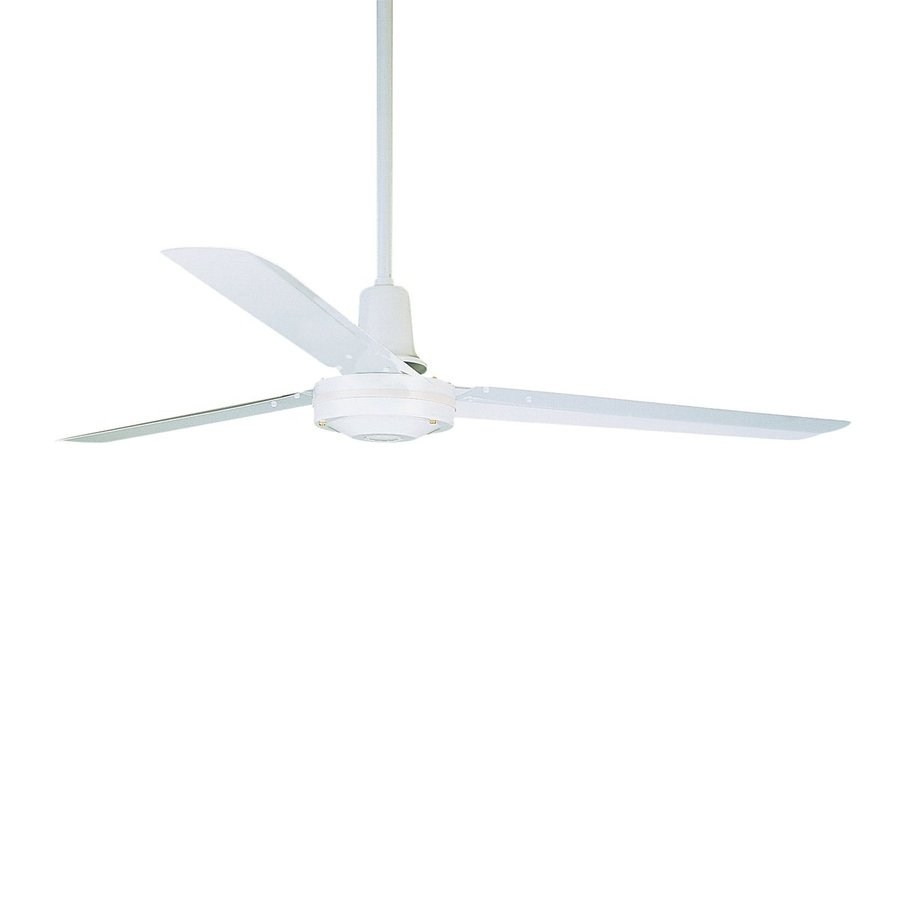 Cascadia Lighting 56-in Appliance White Downrod Mount Indoor Commercial Ceiling Fan (3-Blade)