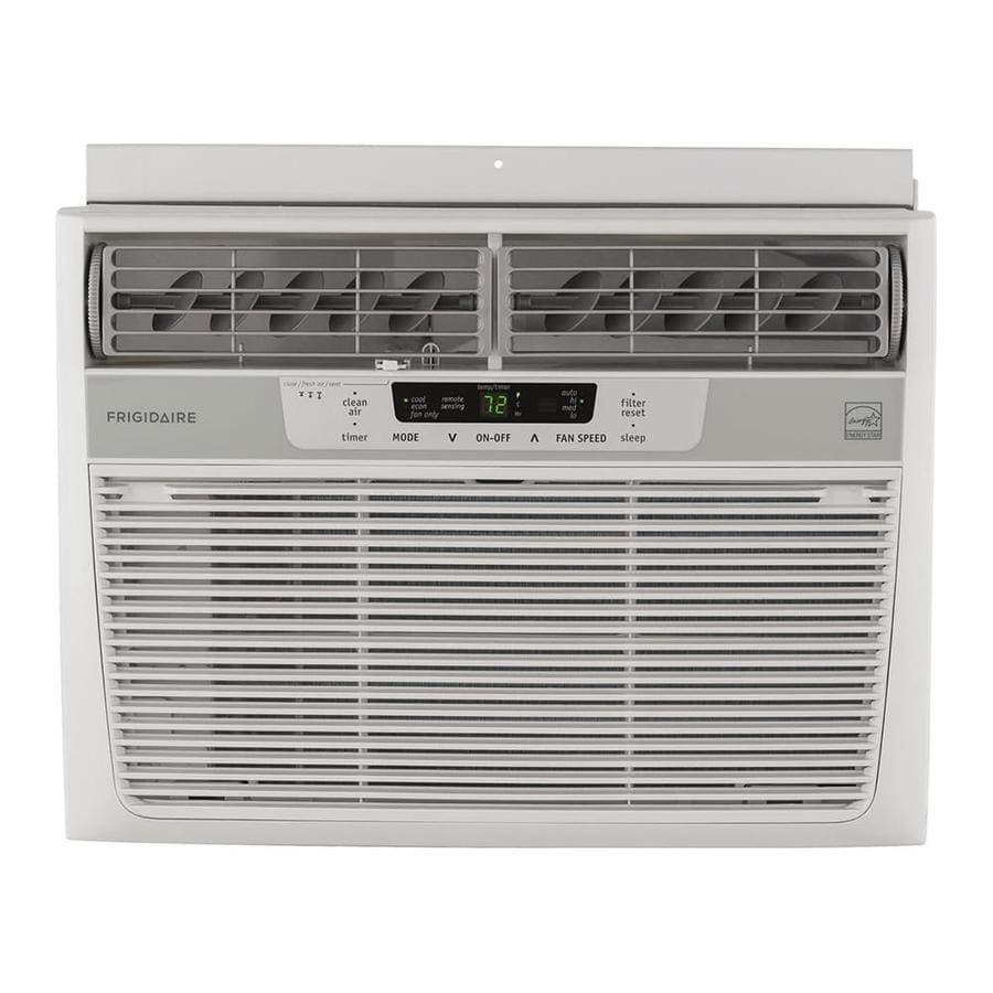 Shop frigidaire 12 000 btu 550 sq ft 115 volt window air for 12 000 btu window air conditioner with heat